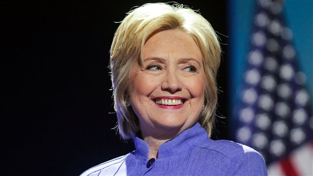 La candidate d�mocrate Hillary Clinton