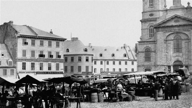 March� public � Qu�bec vers 1880