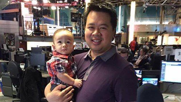 Pascal Robidas avec son fils