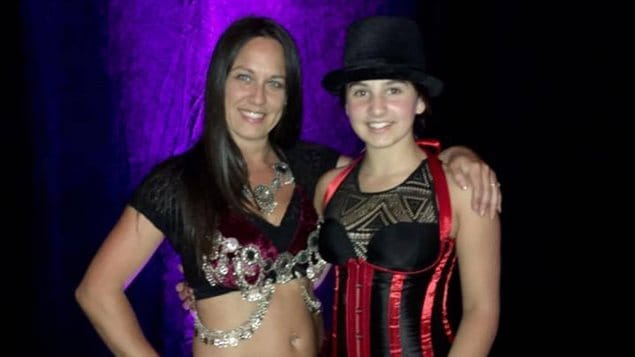 Julie Th�riault et sa fille No�mie