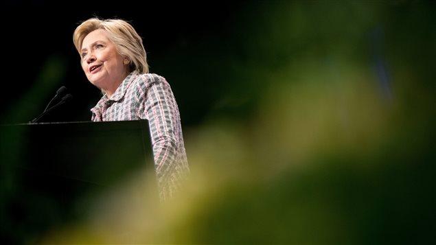 La candidate d�mocrate Hillary Clinton