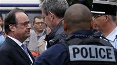 Le pr�sident fran�ais a condamn� l'attaque de l'�glise � Saint-Etienne-du-Rouvray.