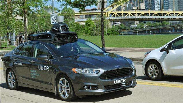Un véhicule à conduite autonome utilisé à Pittsburgh en mai par Uber.