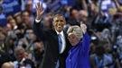 Barack Obama passe le flambeau à Hillary Clinton à la convention démocrate