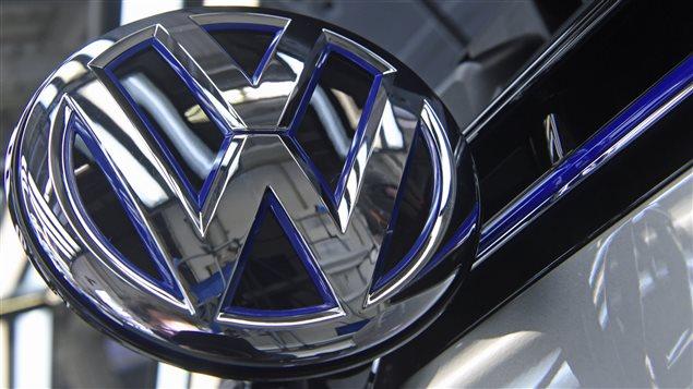 Le logo de Volkswagen.