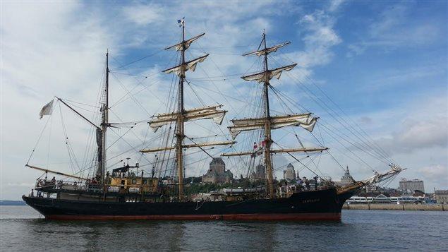 Le grand voilier trois-mâts est arrivé à Québecle 28 juillet