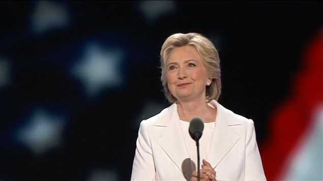 Hillary Clinton, candidate d�mocrate � la pr�sidence des �tats-Unis