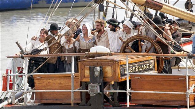 Les dix colons réunis avant le débarquement