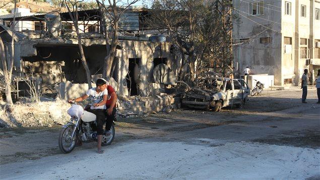 Une maternit� soutenue par l'ONG Save the Children a �t� touch�e aujourd�hui au nord-ouest de la Syrie, faisant de nombreux bless�s.