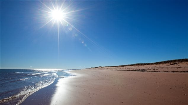 Pictures may be posted of beaches like this one at Conway Sandhills in the eastern province of Prince Edward Island.