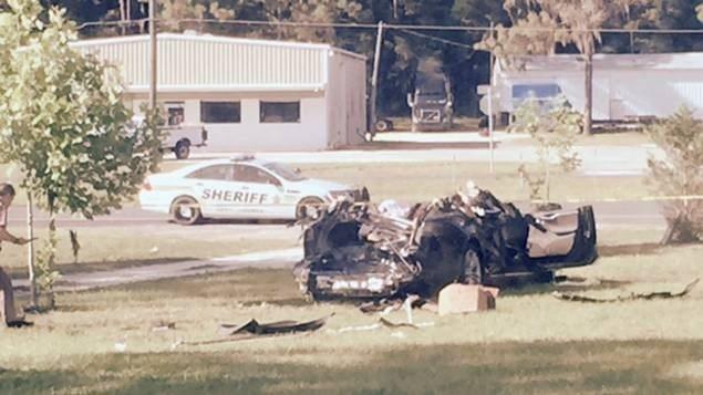 La Tesla accidentée en Floride, le 7 mai 2016