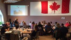 Des participants à un séminaire du Centre Juno Beach en France