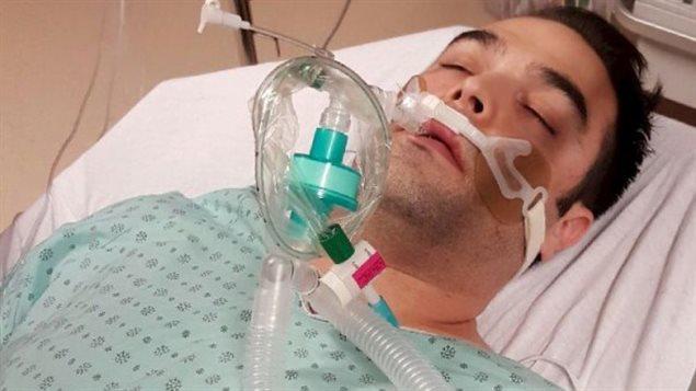 Simon-Pierre Canuel a fait une grave réaction allergique après avoir mangé du tartare de saumon.