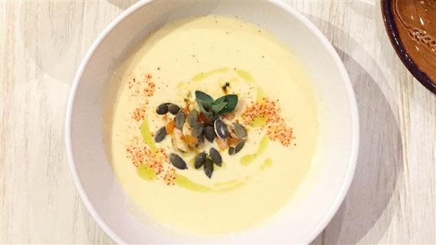Une soupe de maïs.