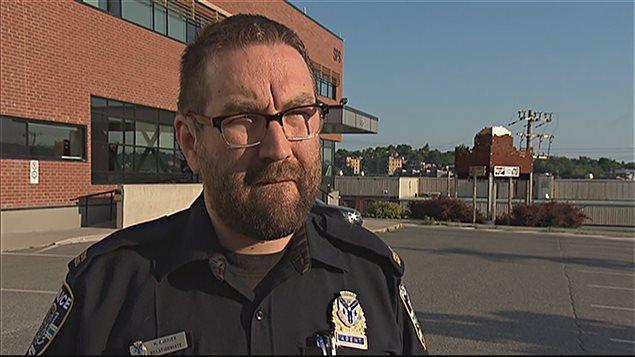 Martin Carrier, porte-parole du Service de police de Sherbrooke