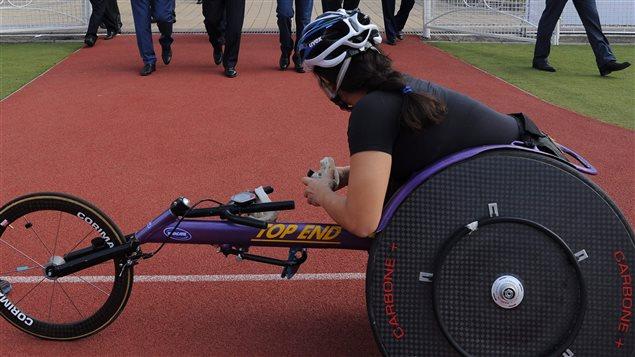 Un athlète paralympique russe