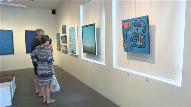 Exposition Bleu à la Galerie Cube Atelier d'été .