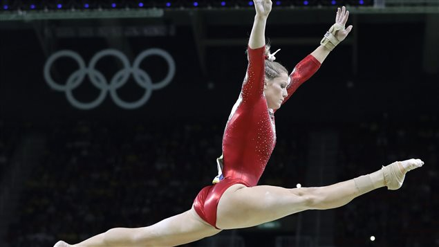 Watching Olympic athletes like Canadian gymnast Brittany Rogers can inspire young people to follow in their footsteps.