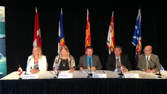 Les ministres de l'Environnement des quatre provinces atlantiques ont rencontré leur homologue fédérale, mardi, à Halifax.