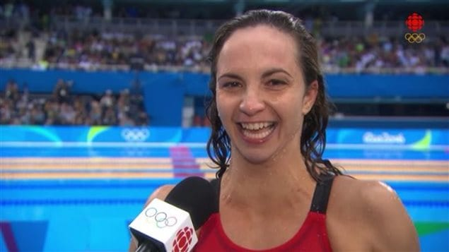 La nageuse Audrey Lacroix