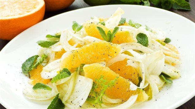 Le goût du fenouil s'harmonise parfaitement à celui de l'orange.