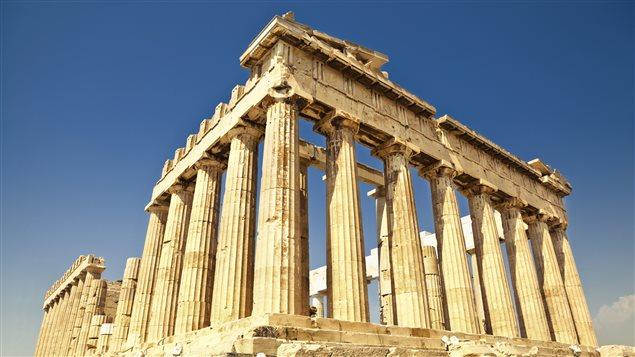 Le Parthénon, situé sur l'acropole d'Athènes.