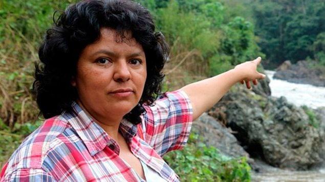 La militante écologiste hondurienne écologiste, Berta Caceres, assassinée le 3 mars 2016