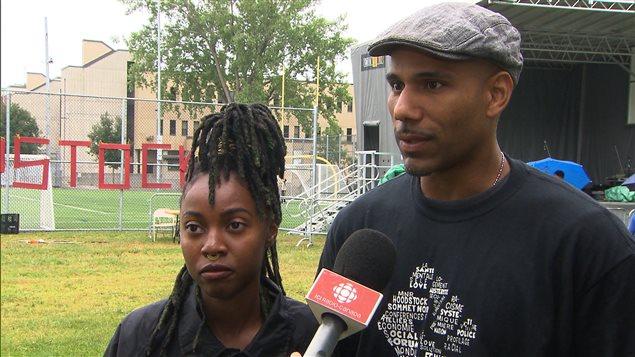 Gabriella Kinté et Will Prosper, organisateurs de Hoodstock