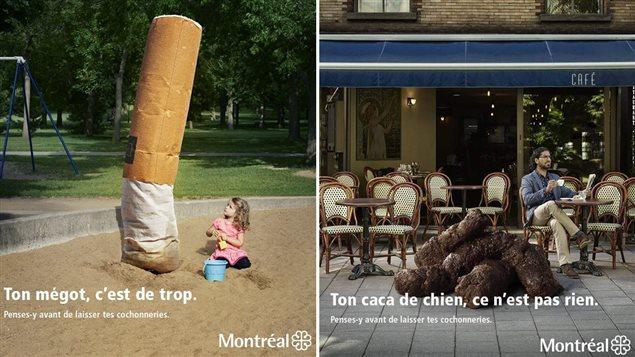 Publicités de conscientisation à la propreté