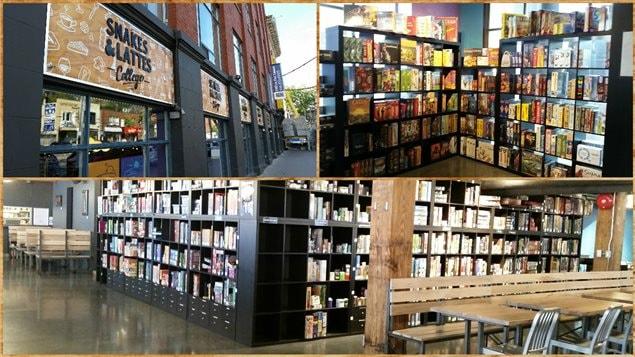 Le café Snakes and Lattes à Toronto, un lieu dédié aux jeux de société.