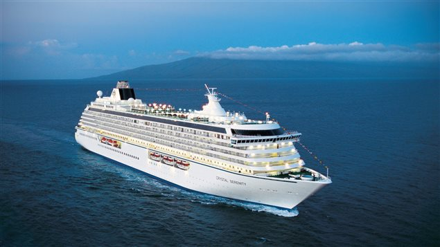 The cruise ship Crystal Serenity is shown in a handout photo.