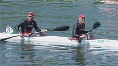 Ryan Cochrane et Hugues Fournel dans leur kayak