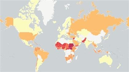 Dans quels pays les enfants ne vont-ils pas à l'école? La réponse en carte