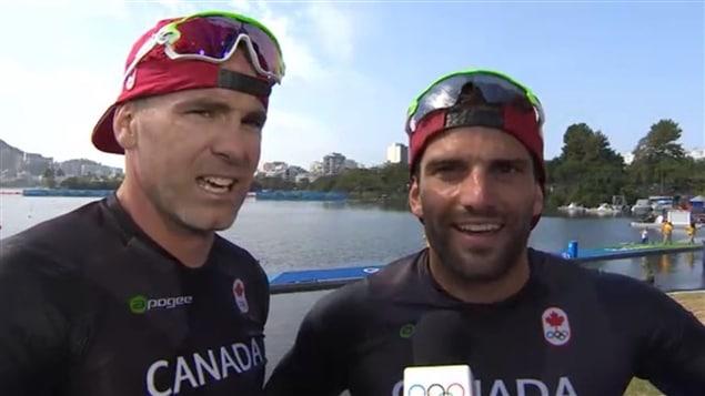 Ryan Cochrane et Hugues Fournel en entrevue