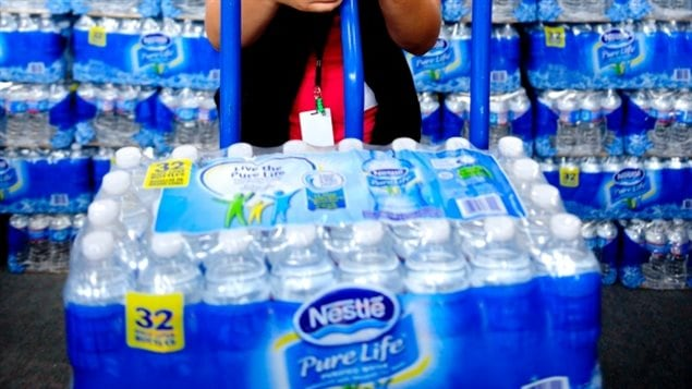 Nestle and other bottling companies make huge profits on water extracted from rivers and wells in Canada,