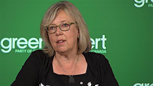 Elizabeth May, jefa del Partido Verde en Canadá.