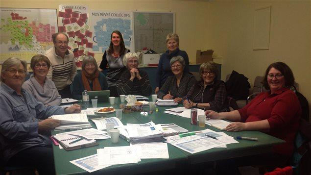 Les membres du comité de pilotage du projet Territoire solidaire
