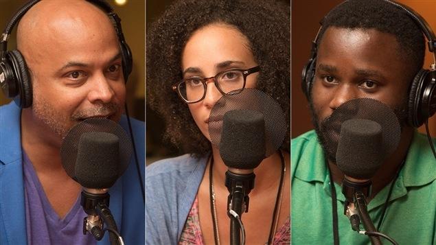 Philippe Fehmiu, �milie Nicolas et Jonathan Marleau