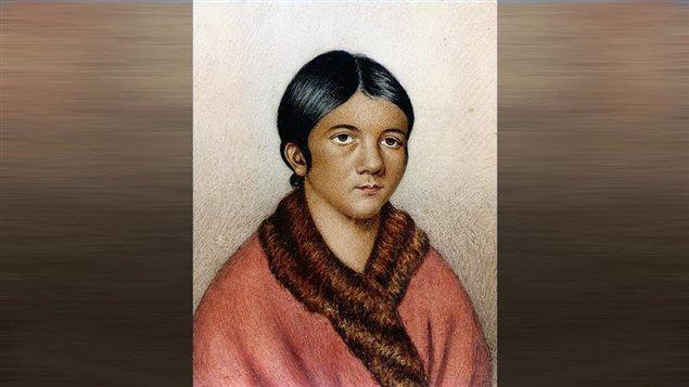 Una ilustración de Shanawdithit, quien murió en 1829 y es considerada como la última indígena beothuk.