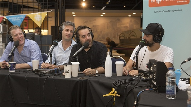 Fred Savard, Olivier Niquet, Jean-S�bastien Girard et Jean-Philippe Wauthier