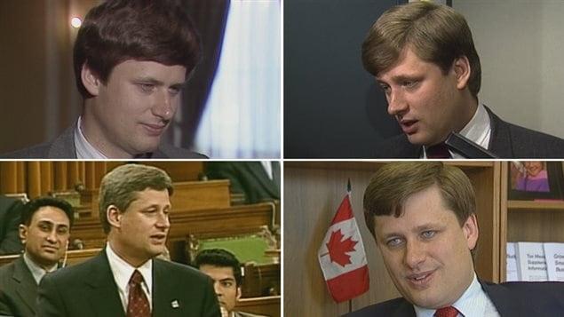 Fotos de Stephen Harper de los archivos de CBC en Calgary de la década de los 90 hasta el 2000.