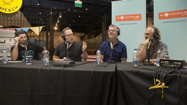 Patrick Masbourian, Jean-S�bastien Bernatchez, Dominic Paquet et Philippe Lagu�