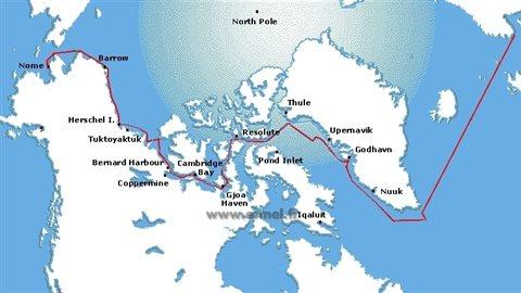 Le passage d'Amundsen, la route classique du passage du Nord-Ouest