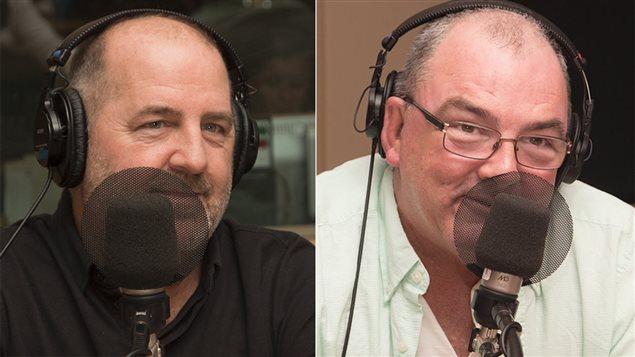 L'auteur Luc Dionne et le com�dien Gildor Roy
