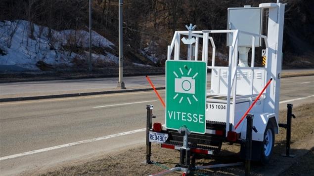 Un photo radar sur le boulevard Champlain.