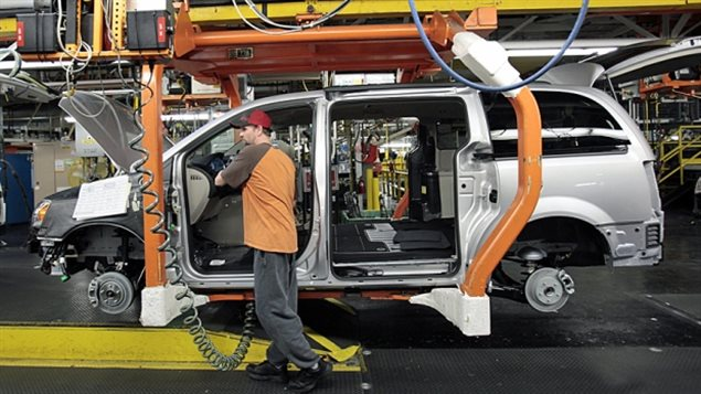 A Worker at a Crysler assembly plant in Windsor, the auto workers union is concerned with keeping production and jobs in Canada, and will make it a priority in upcoming negotiations with the *Big Three*, - GM, Ford, Fiat-Crysler.
