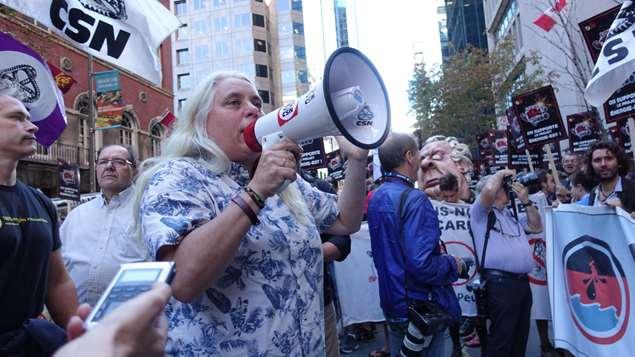 Audiences Énergie-Est, manifestation et arrestations.