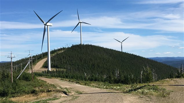 Le parc éolien du Mont-Cooper, à Murdochville.