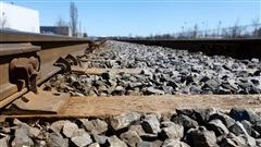 Des rails de chemin de fer.