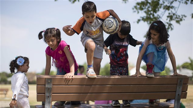 Syrian refugee children attend H.appi Camp in Toronto geared to helping them get used to Canadian life. They are among the more than 30,000 Syrian refugees who have been resettled in Canada.
